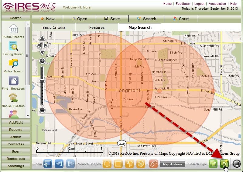 advanced map search tip search the overlap only ires mls