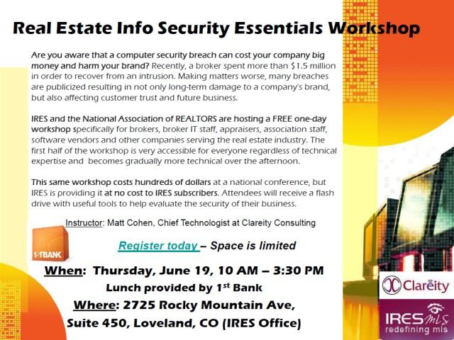 Real Estate Security Workshop