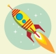Flight of the Space Rocket, Vector